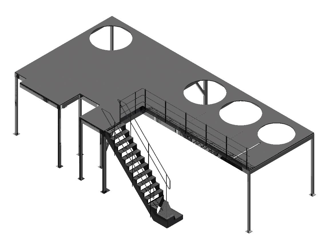 Passerelle accès cuves