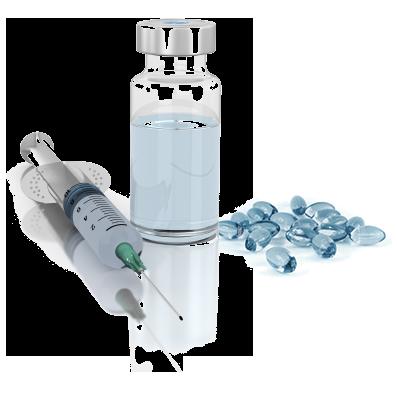 Injectables et capsules moles