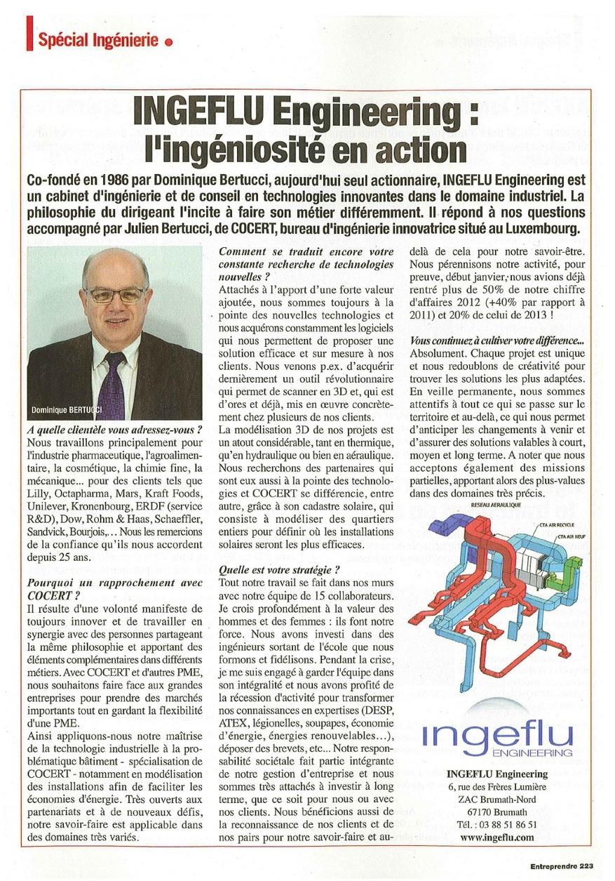 Ingeflu - Article ENTREPRENDRE